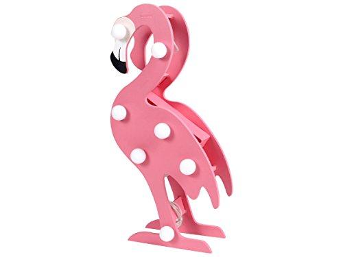 LED Flamingo Tischlampe Nachttischlampe Schreibtischlampe - 20 x 9 cm Tischdeko Wohn-Accessoire Kinderzimmer und Jugendzimmer 220370 von Alsino