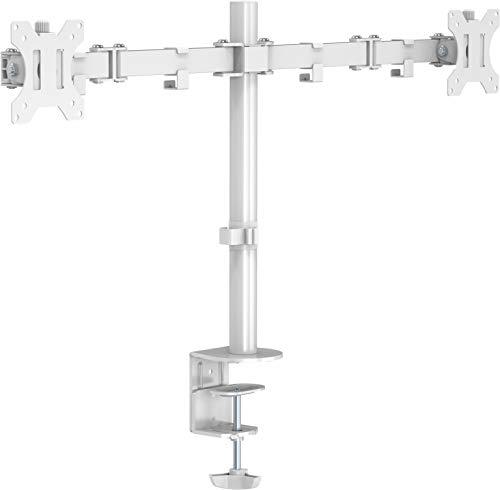 Vision VFM-DPD2W Support d'écran Plat pour Bureau 68,6 cm (27) Pince Blanc - Supports d'écrans Plats pour Bureau (Pince, 16 kg, 33 cm (13), 68,6 cm (27), 100 x 100 mm, Blanc)