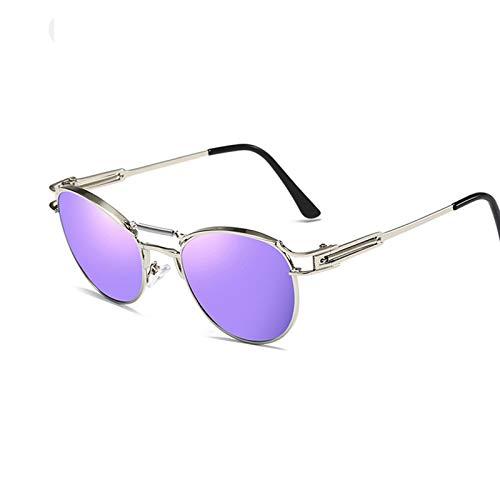 KnSam Polarisierte UV400 Schutz Ultraleicht Rahmen Frühlingsbeine Unisex Silber Lila Sonnenbrillen Fahrerbrille