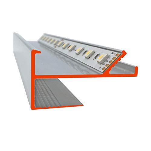 iluminize LED Trockenbau-Profil zum Herstellen einer Lichtvoute für 12,5 mm Gipsplatten, 150 cm lang (VT Lichtvoute) -