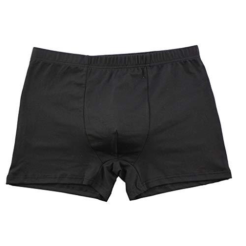 Crazboy Herren Soft Briefs Unterhose Knickers Shorts Sexy Einfach und günstig Unterwäsche(Large,Schwarz-A) - Schwarzen Höschen Womens Baggy Shorts