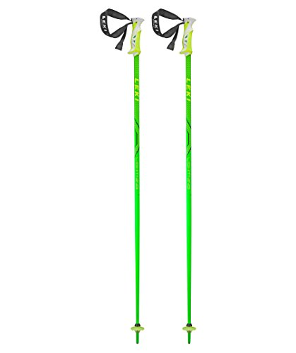 LEKI Erwachsene Skistock Lightning, Base Color Green/Design: Black-Dark Yellow, 120 cm, 632-4626