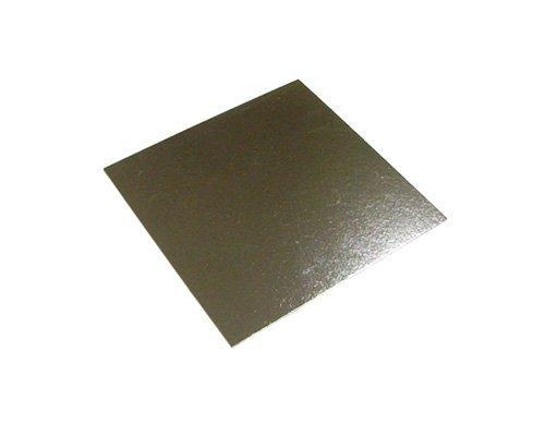 Plateau carré pour gâteaux de 25 cm, lot de 5