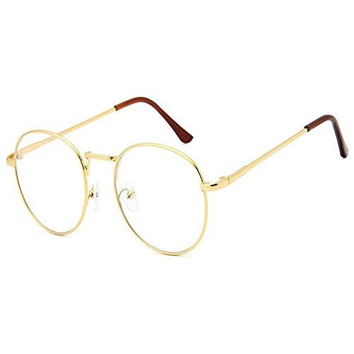 aweijia Fashion Style Brillen Frauen Männer Retro Runde Gläser Metallrahmen Klare Linse