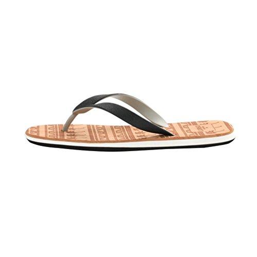 Baymate Herren Zehentrenner Strand Flip Flops Komfort Sandalen Dusch Badeschuhe Weiß