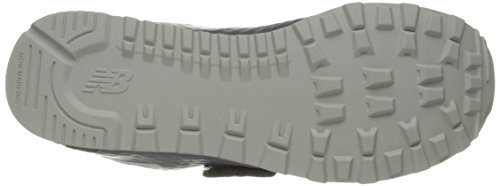 New Balance 574 Velcro, Formatori Unisex – Bambini Grigio (Grey)
