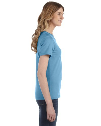 Anvil Damen T-Shirt, leicht tailliert Hellblau