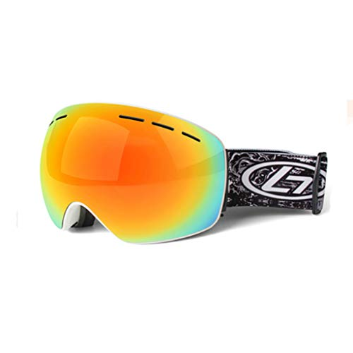 Skibrille Doppel Anti-Fog-Karte Myopie Outdoor Klettern Schnee Anti-Fog Wind Brille Ski Brille (Farbe : D)