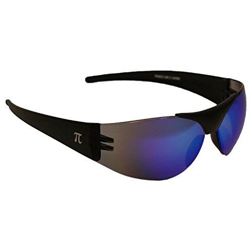 PI Wear Frisco - blau verspiegelte, Rahmenlose Sonnenbrille - Motorradbrille