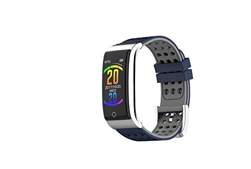 Intelligentes Armband,Neue E08 Farbdisplay intelligente EKG-Armband EKG + PPG Herzfrequenz Blutdruck Übungsschritt wasserdicht,Telligentes Armband Zum -bluegray