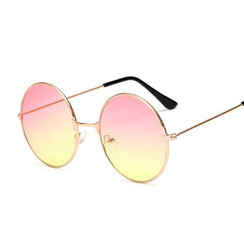 Kjwsbb Candy Vintage Round Mirror Sonnenbrille Frauen Schwarze Sonnenbrille Weibliche Oculos