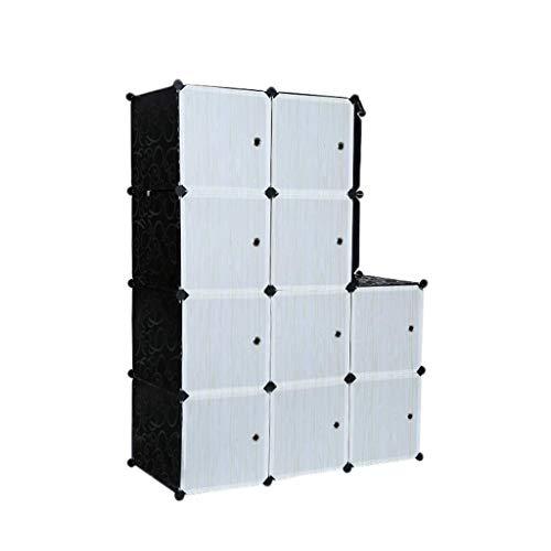MXYMX Organizador del armario del cubo del almacenamiento, armarios portátiles del armario...