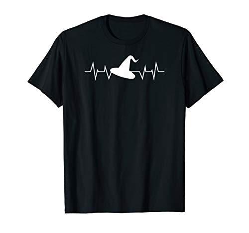 Blau Kostüm Schwarz Und Hexe - Hexe-Herzschlag-gespenstischer Halloween-Kostüm-Geschenk T-Shirt