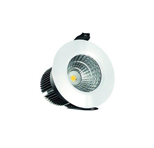 Downlight llevado Integral 4,5 W (20 W) 3000 K 250 lm 48 mm cut-out no brightlightz acabado mate de color blanco. 29 degree Ángulo de haz