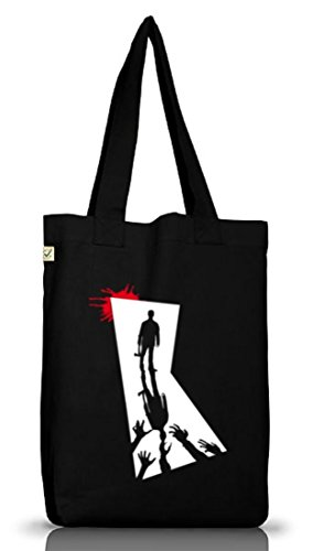 Shirtstreet24, Zombie Killer, Halloween Zombies Jutebeutel Stoff Tasche Earth Positive (ONE SIZE) Black