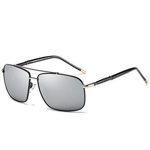 M.J.ZUR Sonnenbrillen Polarisierte Brillengläser Sport-Sonnenbrillen für Männer Super leichtes UV-Licht UV-reflektiertes Licht (Color : Silber, Size : Kostenlos)