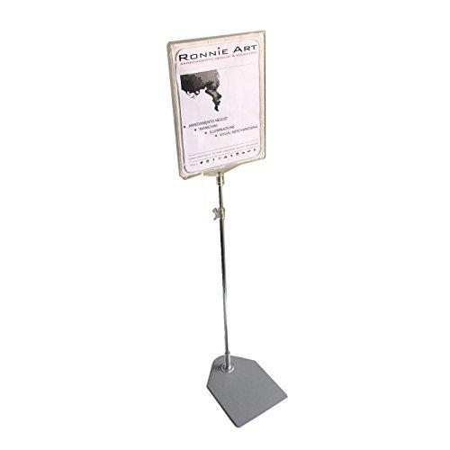 metalarredo PIANTANA Regolabile da 30 A 60 cm con Cornice Porta Immagine Formato A4