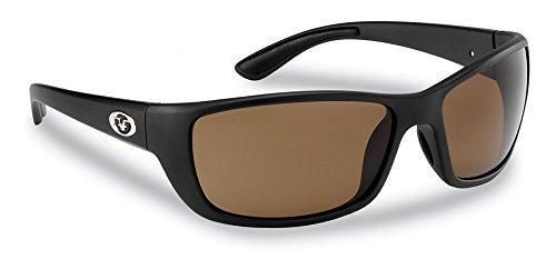 Flying Fisherman Cay SAL Polarisierte Sonnenbrille mit matt schwarz Rahmen, Bernstein Objektive