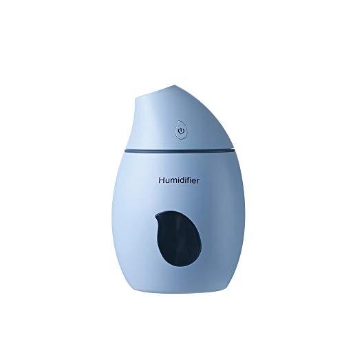 Cebbay-Humidificador Ultrasónico de 160 ml,Forma de Mango con luz led Depósito de Agua de Gran Capacidad,Luz Nocturna y Apagado Automático para Hogar, Oficina