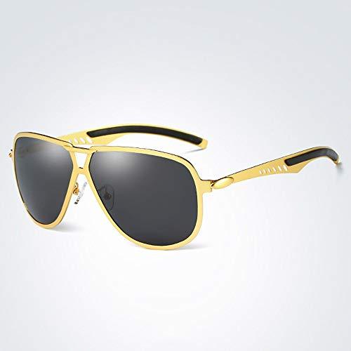 WULE-RYP Polarisierte Sonnenbrille mit UV-Schutz Outdoor-Sonnenbrillen für Klassische Männer, polarisiert, Angeln, Gläser Fahren. Superleichtes Rahmen-Fischen, das Golf fährt (Farbe : Golden)