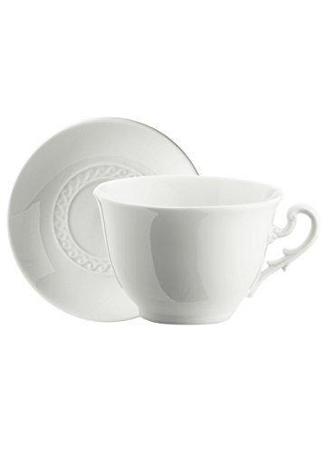 Richard Ginori Museo Bianco Set 6 Tazze Tè con Piattino