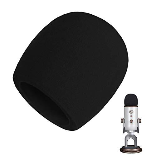 AOBETAK Popschutz Groß Schaumstoff für Mikrofon,Mikrofon Windschutz für Blue Yeti, Yeti Pro Kondensator mikrofon,Schwarz - Yeti Mikrofon-pop-filter Blue