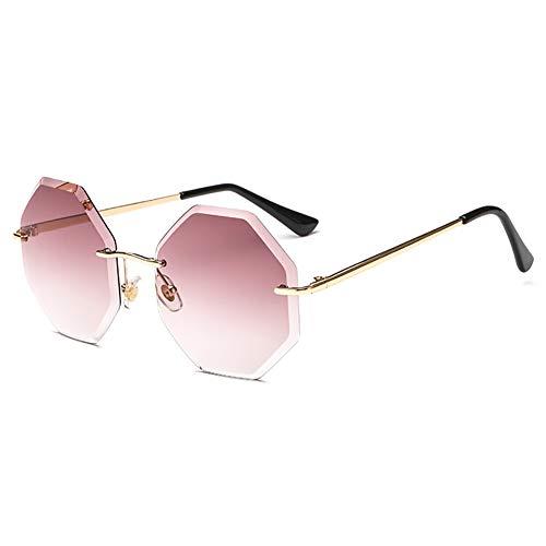 FYrainbow Europäische und amerikanische Sonnenbrille, Moderne polygonale Sonnenbrille eignen Sich am besten zum Angeln von Golf-Outdoor-Reisemöglichkeiten,D