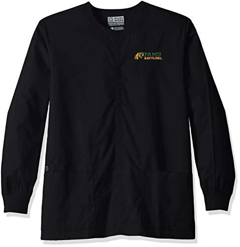 WonderWink Unisex-Erwachsene Florida A&M University Snap Front Jacket Legerer Blazer, schwarz, Medium -