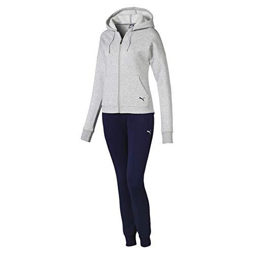 Puma Damen Clean Sweat Suit CL Trainingsanzug, Light Gray Heather, L