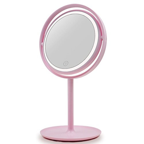 UPHAN Studio Grade Pro beleuchtete Kosmetikspiegel mit LED Leuchten für Make up Dressing Tisch Set, Beauty Schminkspiegel mit dimmbaren LED Leuchten für Make up Anfänger Tochter Geschenk Spiegel
