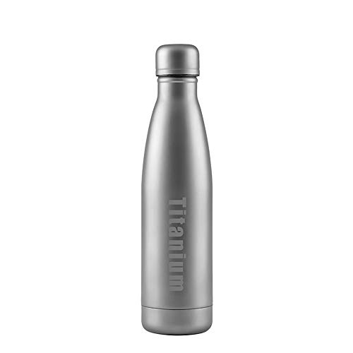 AUNLPB Vakuum Insulated Cup, Titanium Sports Water Bottle, Travel Mug Perfect für Outdoor Sports Camping Camping Wandern Radfahren Fitness, 500ml Titan Insulated Mug