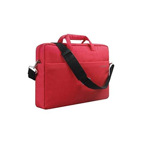 Laptoptasche for Frauen, Schlanke, Leichte Business-Aktentasche, Tragetasche for Tragbaren Computer Mit Griff (Color : Red, Size : 15inch) -