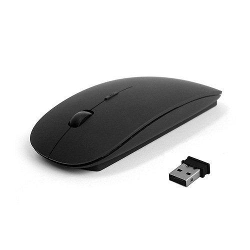 Smacc Ultra Slim Wireless Mouse 2.4 GHz Nano Receiver,Black