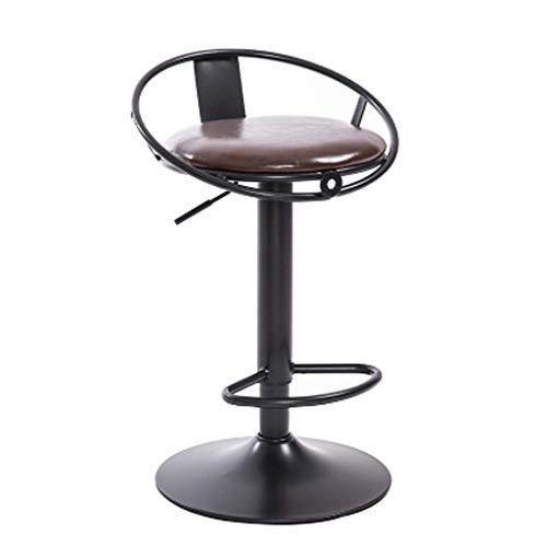 - Brown-leder-counter (SJZCTxu Drehstuhl, Barhocker Restaurantstuhl Cafe Drehstuhl, Counter für Schmuck, Leder wasserdicht, bequemes Sitzen, Metallgestell,Brown)