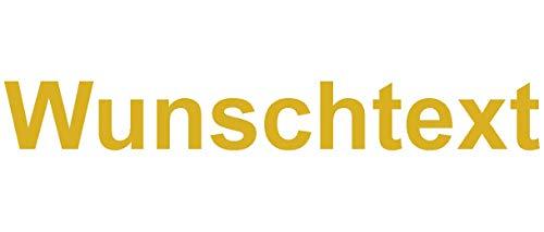Samunshi® Aufkleber Schriftzug Autoaufkleber Werbung in 9 Größen und 25 Farben (1x70cm goldmetalleffekt) -