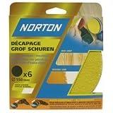 Norton Lot de 6 Disques perfores 6 Trous auto agrippants Diamètre 150 Grain 120