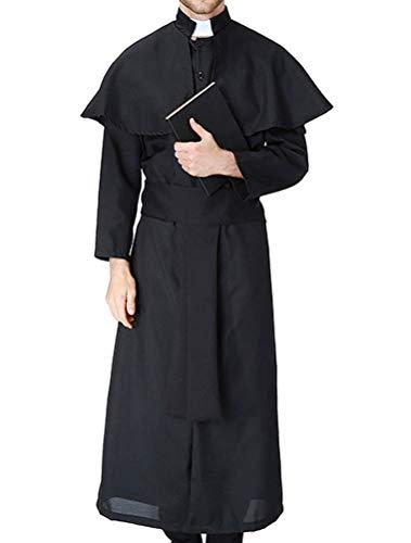 ROBO Halloween Kostüm Herren Cosplay Jesus Pastor Ave Maria Priester Nonne Bühne Show (Maria Jesus Halloween-kostüme Und)