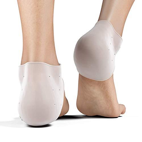 Plantar Fasciitis Fersensporn Pads Fußpflege Fersenkissen Fersen Polster Einlagen Stützen (4 Stk) Unterstützung für Fußgewölbe und Hautpflege Schutz Fuss Schmerzlinderung für Männer Frauen