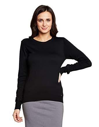 Madame Women's Sweater (M8W17036 002_Black_M)