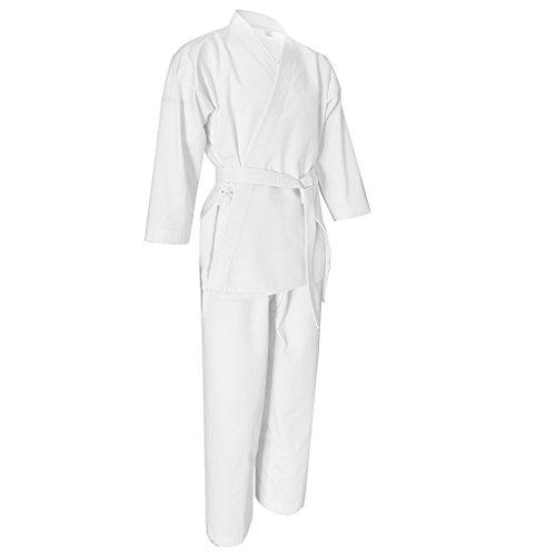 MagiDeal Kinder Erwachsene Unisex Taekwondo Karate Kampfkunst Kostüm Trainingsanzug Set - XL