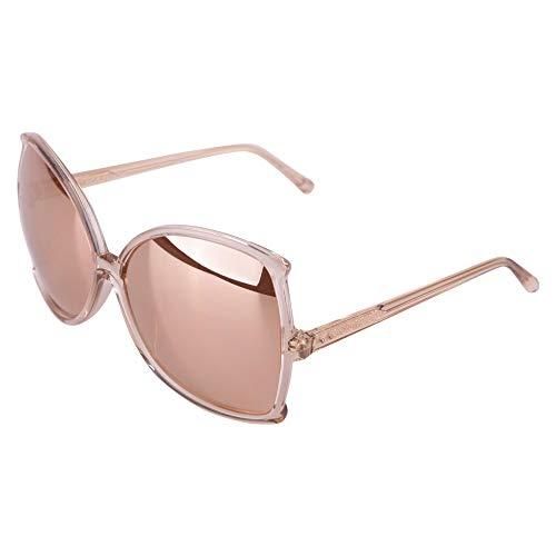 3409b6876c0d Linda Farrow Women s Lfl514c4sunrosgd Gold Pink Acetate Sunglasses