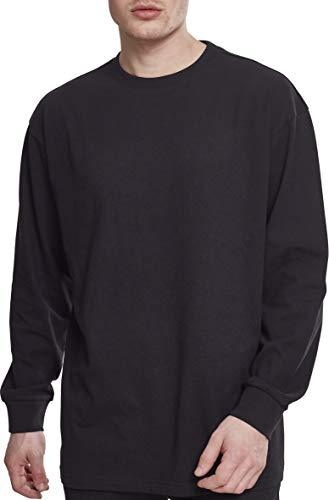Urban Classics Herren Boxy Heavy Longsleeve Langarmshirt, Schwarz (Black 00007), M - Crewneck Long Sleeve Top