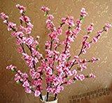Zantec Simulation der Peach Blossom Künstliche Blumen Seide Blume Kränzen (Pink)