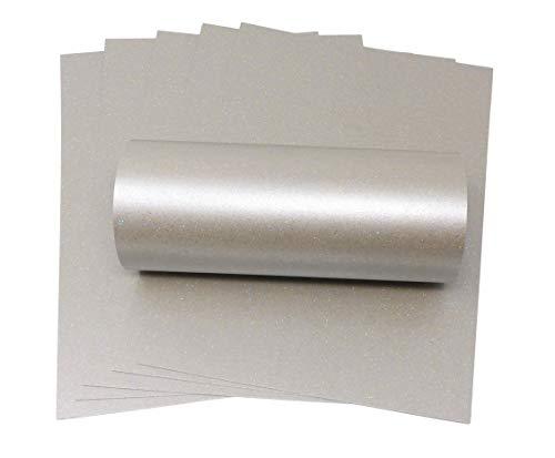 A4-Karte, Quecksilber, schillerndes Silber, Glitzerkarte,  Qualität, 300g/m², für Bastelarbeiten, Kartengestaltung silber
