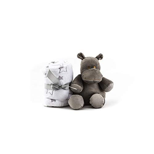 Duffi Baby- Manta y Peluche, 90 x 75 cm, Color Plata (Master Baby Home, S.L. 5512-11)