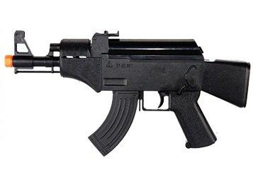 HFC Softair Pistole HB103 Mini Voll Automatisch, Elektrisch schwarz, ABS, unter 0.5 Joules, 0.12g, hop up, AK47 Stil (Automatische Volle Paintball-pistolen)