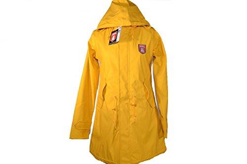 damen mantel derbe travel friese coat gelb eu 36 www. Black Bedroom Furniture Sets. Home Design Ideas