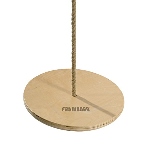 FATMOOSE Affenschaukel MagicRider Tellerschaukel Kinderschaukel Rundschaukel, Sitz Ø30cm, Holz