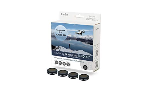 Kenko Drone Filter Kit für DJI MAVIC AIR Drohne, 4 tlg. (ND 4, ND 8, ND 16, ND 32), im Hardcase