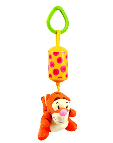 Baby Grow Music Rattles Multifunctional Bell Ring Paper Hanging Strollers Activity Toy (Orange)